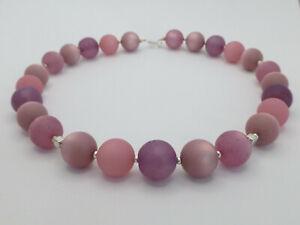 Halskette Collier Perlen Mix Polaris Flieder Rosa UNIKAT