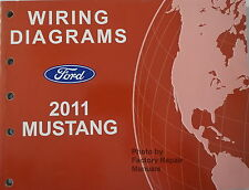 2011 Ford Mustang Electrical Wiring Diagrams Manual Shelby GT500, GT, Original
