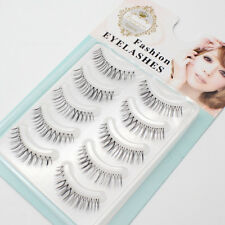 5 Pairs Charming Superfine Handmade Black Cross Natural Short False Eyelashes