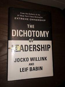 The Dichotomy Of Leadership Jacko Willink & Leif Babin HARDCOVER FREE SHIPPING