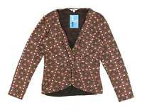 M&Co Womens Size 14 Floral Brown Twist Front Top (Regular)