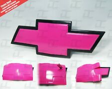 (2) Silverado / Tahoe Hot Pink Chevy Bowtie Vinyl Sheets Emblem Decal Cover
