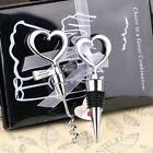 Wedding Supply Love Heart Shape Wine Bottle Stopper Opener Corkscrew Set Gift