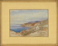 Framed Early 20th Century Watercolour - Coastal Cottage