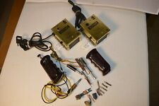 Lot of Vintage Slot Car Power Transformers, Cox Throttles, used pick ups brushes
