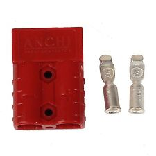 2pcs 50A 8AWG Battery Quick Connector Plug Connect Disconnect Winch Trailer Red