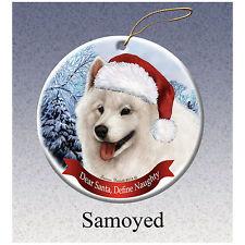 Samoyed Howliday Porcelain China Dog Christmas Ornament