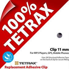1 x TETRAX ricambio adesivo Clip 11 mm Grigio acciaio (da usare con sostegno)