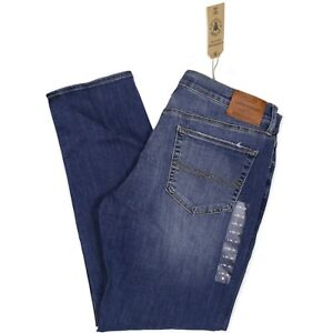 NWT Lucky Brand 121 Mens Jeans Heritage Slim Saturday Stretch Blue Distressed