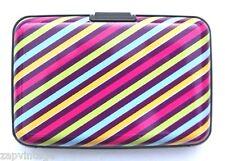 Wallet Business ID Credit Card Holder Pocket Aluminum Metal Case Colorful Stripe