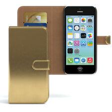 Tasche für Apple iPhone 5C Case Wallet Schutz Hülle Cover Gold