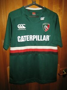 Leicester Tigers 2013 Home Rugby Shirt - Mens Size Large + Tigers Bottle Opener