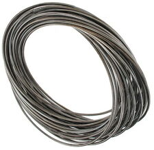 Bangle Bracelet Set - 30 Thin Wire Interlocked Gun Metal Gray