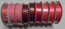 9 Bolts of Different types of Red and Hot Pink Ribbon ( R-43 )