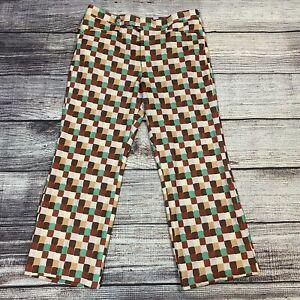Vtg 60s 70s Mens 36x31 SANSABELT Pants Polyester Disco Leisure Suit Hippy Golf