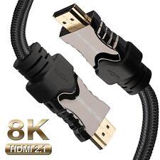 Version 2.1/2.0/1.4v HDMI Cable 8K/4K Ultra-HD(UHD) - 6 10 15 25 30 50 66 ft Lot