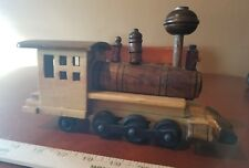 Handmade Wooden Train Engine Rail Road Locomotive