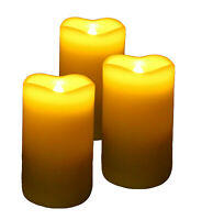 Set of 3 Vanilla Scented Flameless LED Laser Wax Candle with Remote Control