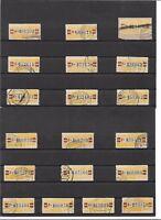 DDR 1959, Michelnummern Dienstmarken B aus 25 o, Einzelmarken o, gestempelt o