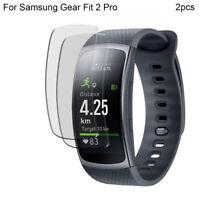 2 × Verre Trempé Bracelet Complet Protecteur Écran pour Samsung Gear Fit 2 Pr