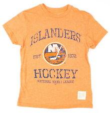 Original Retro Brand Youth Girls Islanders Hockey Top Orange L New