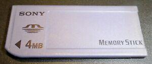 Genuine Sony Memory Stick OLD MS MSA-4A