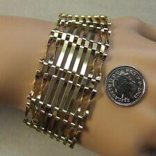 9 ct GOLD second hand 8 bar gate bracelet