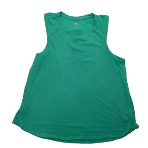 ATHLETIC WORKS Women's Tank Top Size L (12-14) Green Running Gym Workout Casual