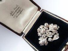 Antique Presentation Case C.1830's Large Georgian Diamond Brooch In