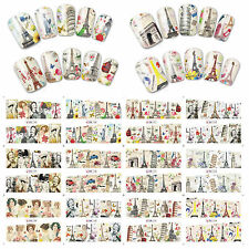 12 Sheets Nail Art Water Transfer Decal Stickers Great Building BN145-156