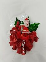 Vintage / NEW Stock Santa Christmas CORSAGE PKG Ties pick Poinsettias RED