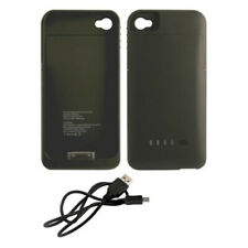 iCover iPhone 4/4S Rubberized Protective 1900mAh Battery Case - Black