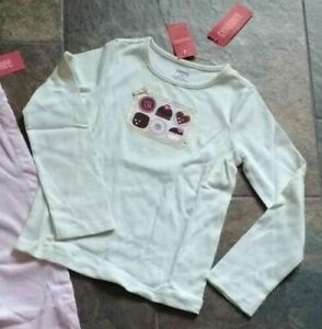 NWT Size 7 8 Gymboree SWEETER THAN CHOCOLATE Pants Top Pink Brown Ivory Cake