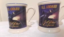 2 Pc Set 3D Ceramic All Aboard Believe Polar Express Ceramic Mugs