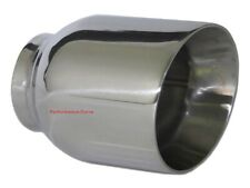 "Stainless Steel Exhaust Tip Double Wall Angle 2.5"" Inlet - 4"" Outlet - 5"" Long"