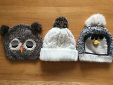 Girls Bobble Hats Hat Bundle NEXT H&M GEORGE Age 7-10 / 8-12 years