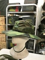 hat camouflage tropical combat boonie VIETNAM ECT USA USGI size 6 7/8 dated 69