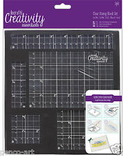 Docrafts Papermania 5 piece clear acrylic stamp block set mounting rubber stamps