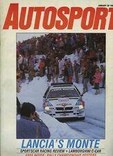 Autosport January 30th 1986 *Monte Carlo Rally*