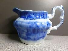 Ridgway Pottery Flow Blue Pitcher Oriental Pattern 1891+