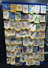 Rotary International Club Large Vintage Banner 58 Flags