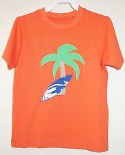NEU in Tasche Kellys Kinder David Flamme orange Applikation Shirt Boy's SZ 7-8 Jahr