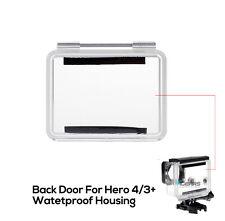 Waterproof Hard Clear Housing Backdoor Back Door Case Cover for Gopro Hero 4/3+