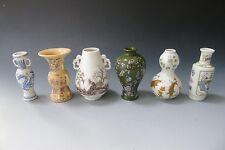 6 x vintage miniature imperial Japanese porcelain vases