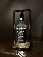 JD Jack Daniels Bottle Copper Retro Handmade Led Lamp 1l