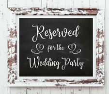 Wedding Decor RESERVED for WEDDING PARTY Print, 8x10 CARDSTOCK Print ONLY