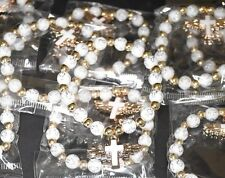 12 X RECUERDOS MI PRIMERA COMUNION PULSERA BRACELET FIRST COMMUNION FAVORS WHITE