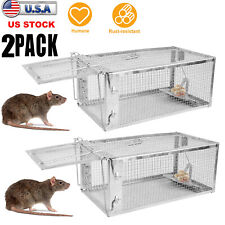 2x Rodent Animal Mouse Humane Live Trap Hamster Cage Mice Rat Control Catch Bait