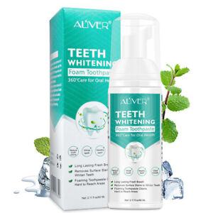for Aliver Professional Teeth Whitening Cleaning Foam Toothpaste 60ML