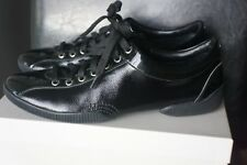 Giorgio Armani Black Patent Leather Lace Up Shoes Sneakers Sz IT 40/US 9.5